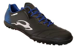 Zapato De Futbol Union 360-m Negro Azul Rey Deportivo Moda