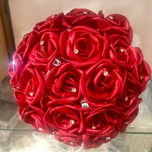 Buque Vermelho De Noiva Para Casamento