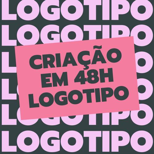Imagem 1 de 5 de 48h Logotipo Logomarca Criação Marca Criar Logo