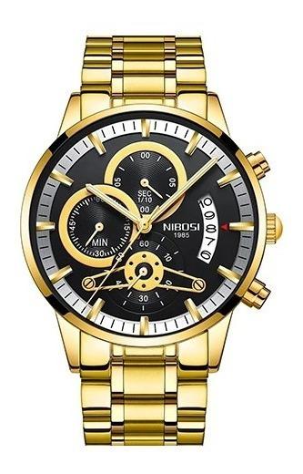 Relógio Pulso - Nibosi Original 43,69mm Inox Quartzo