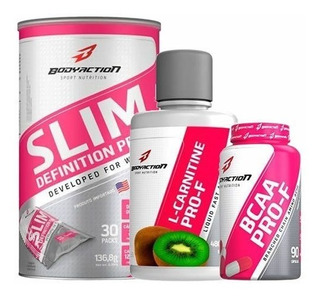 Slim Definition 30 Sachês Bcaa 90 Cáps L-carnitine 480ml