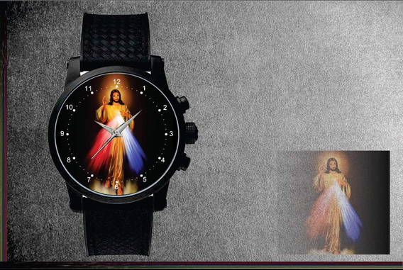 Relógio De Pulso Personalizado Imagem Jesus De Misericórdia