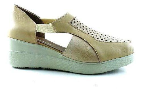 Zapatilla Mujer Cuero Briganti Zapato Urbano - Mczp05255 Vh