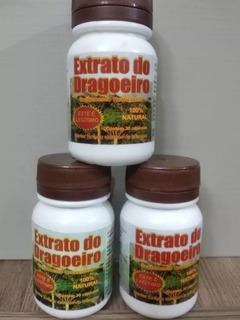 Extrato Do Dragoeiro 3 Frasco Com 30 Cápsula Original