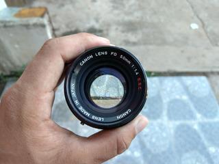 Objetivo Lente Canon Fd 50mm F1.4 Sony Canon Nikon