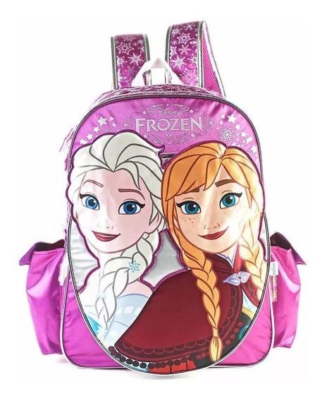 Mochila Frozen Espalda 17 Pulgadas Disney Ana Y Elsa Fty