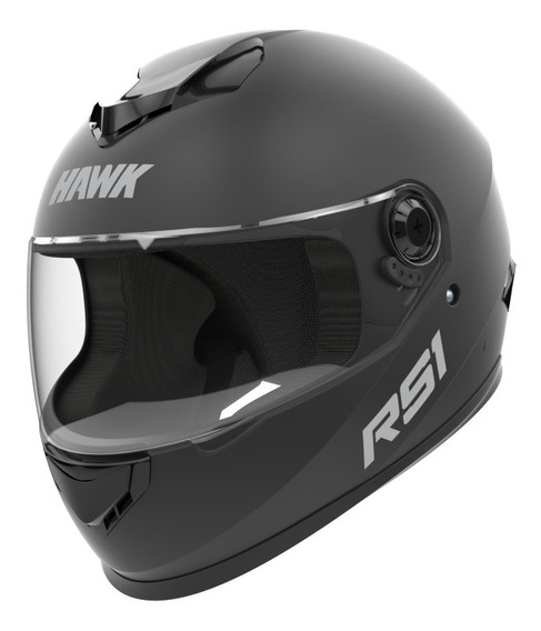 Casco Moto Hawk Rs1 Integral Negro Mate Tienda Oficial Full