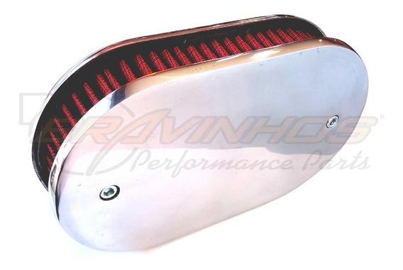 Filtro Ar Carburador Gm Opala Solex Dfv 446 228 Com Borracha