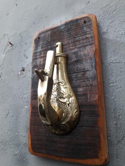 Aldrava Antiga De Bronze Garucha