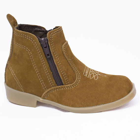 Bota Infantil Country Kids Texana Couro Castor (rz-0016)