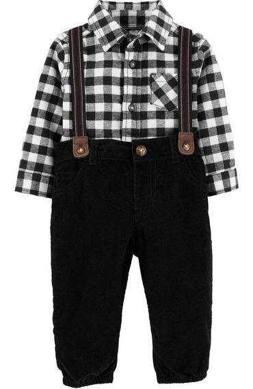 Carters Conjunto Pañalero Pantalon Tirantes 18599010 Chic