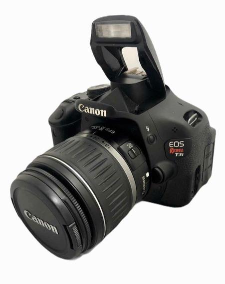 Câmera Cânon T3i Seminova C Lente 1855 Mm + Acessórios