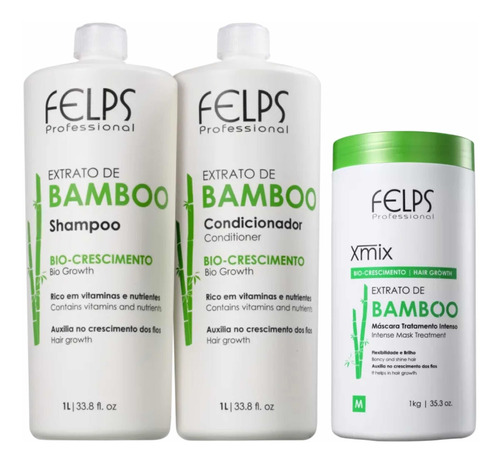 Felps Kit Bamboo Crescimento 2x1l + Máscara 1kg