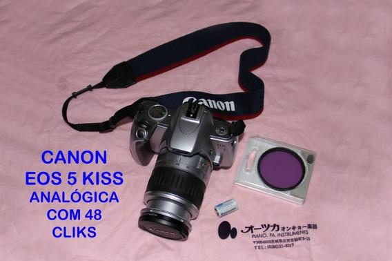 Câmera Canon Eos 5 Kiss (analógica) - Lente 28-90 (raridade)