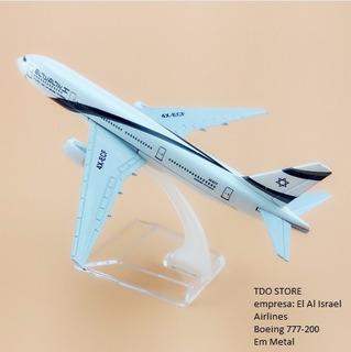 Avião Miniatura Boeing 777 El Al Israel Airlines Em Metal