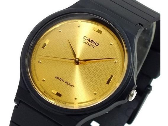 Relogio Casio Mq-76 Resina Dourado Unissex Retrô Mq24 Mq76