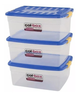 Caja Plastica Apilable Organizadora 17lts Colombraro