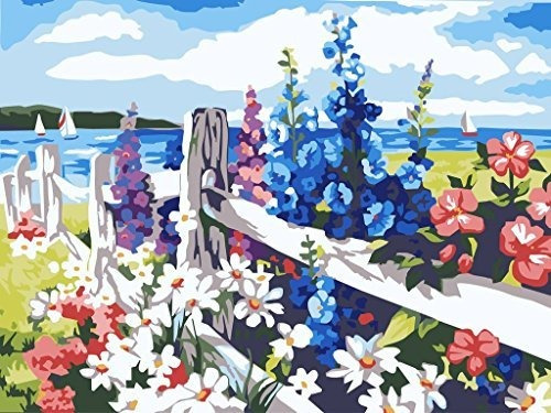 Pintura De Pintura Al Oleo Diy Por Numero Kit Mar De Flore