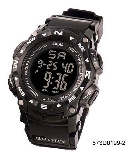 2 Relógio Masculino Xinjia Digital 875d + 873 Prova Dágua Data + Relógio Social Super Brinde! Ler A Desrição