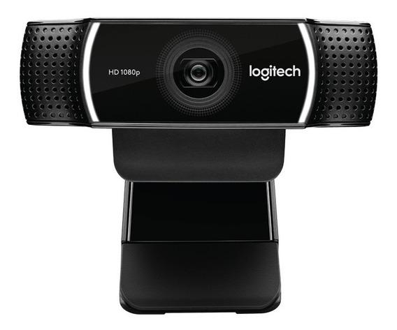 Logitech Web Cam C922 Pro Com Tripe Nfe E Garantia 2 Anos