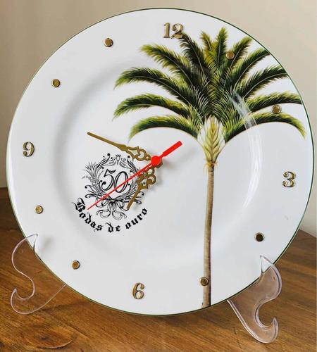 Imagem 1 de 4 de Relógio Bodas De Ouro 50 Anos Casamento 27cm