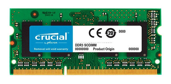 Memoria Sodimm 4gb Crucial Ddr3 1600mhz Notebook Mexx 2