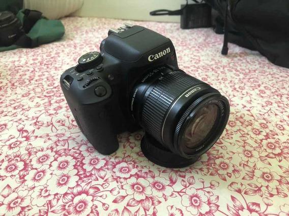 Canon T6i + Lente 50mm + 18-55mm + 2 Baterias E Tripé