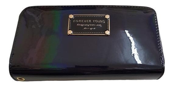 Única!!! Billetera Doble Forever Young Tornasolada Importada