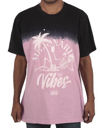 Imagem 1 de 3 de Camiseta Chronic  Tie Dye Milionarios De Vibe Preto Pink