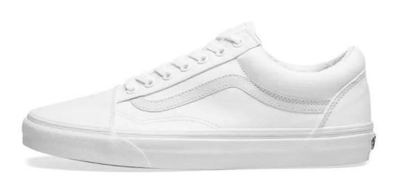Tenis Vans Old Skool True White 3hw00 Blanco
