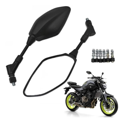 Imagen 1 de 4 de Espejos Retrovisor Para Moto Yamaha Mt-07 Mt-09