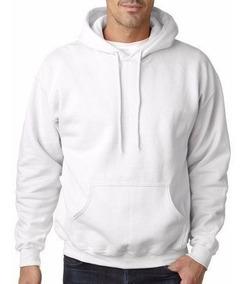 Moletom Branco Masculino Feminino Blusa De Frio Canguru