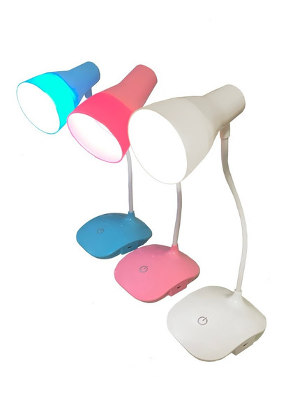 Luminária Touch Sem Fio 3 Níve Luz 16 Leds Abajur Flexível
