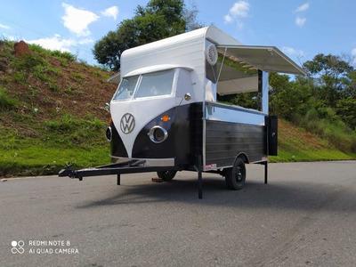 Trailer Food Truck Frente De Kombi Corujinha