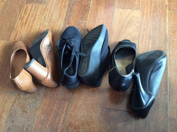 Lote De Calçados Sapato Sandália Tamanco 35
