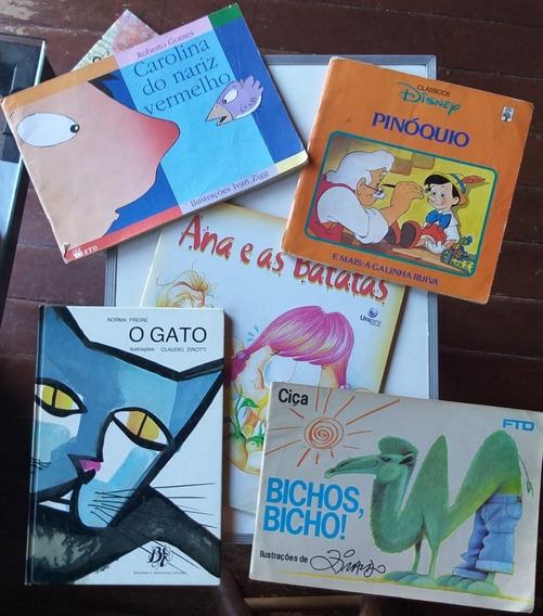 Livro Lote Com 15 Livros Infantil Vários Autores