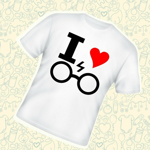 Camiseta Infantil Harry Potter I Love Harry Potter