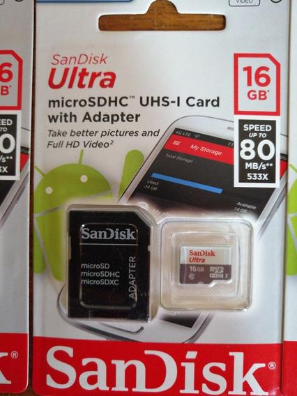 Kit Com 03 Cartoes Memoria 16 Gb Classe 10+frete Gratis**