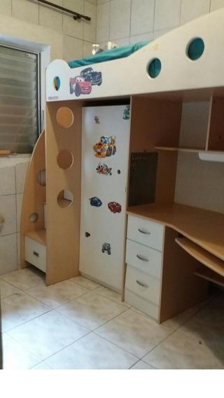 Cama+ Mesa Computador Guarda Roupas Gavetas (multifuncional)