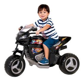 Moto Eletrica Grande Infantil Menino Max Turbo 6v