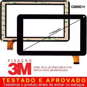 Vidro Tela Touch Qbex Zupin Tx120 7 Polegadas Pronta Entrega