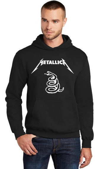 Moletom Canguru Masculino Metallica Black Álbum