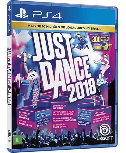 Just Dance 2018 (mídia Física Leg Pt-br) - Ps4