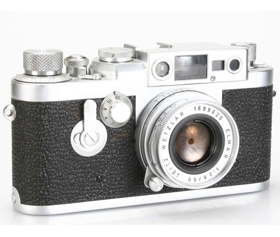 Câmera Analógica 35mm Leica Iii G Com Elmar 50mm F2.8 (1958)