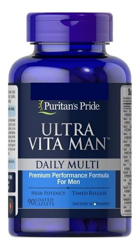 Ultra Man Fortalece Su Cuerpo 90 Tabletas