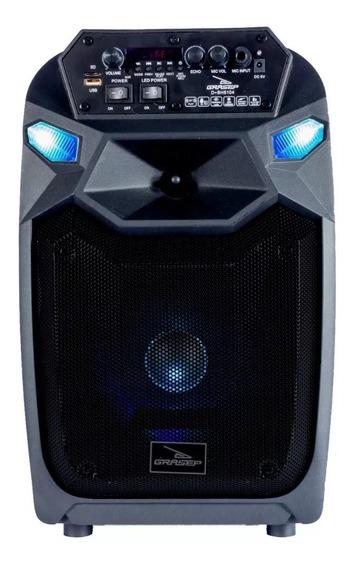 Caixa De Som Amplificada Bluetooth C/ Microfone Usb Mp3 Sd