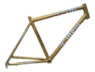 Cuadro Bicicleta Cinelli Aluminio Dorado - Racer