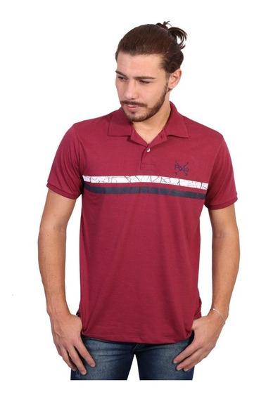 Camisa Polo England Polo Club Listrada Vinho