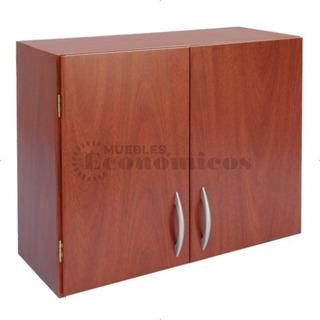 Alacena Melamina 80cm Armada Organizador Armario Cocina 2 Puertas Con Estante - Muebles Económicos