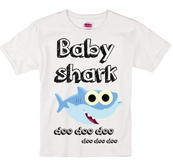 Playera Para Niño/niña Baby Shark Brother Shark Sister Shark